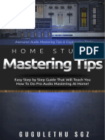 Home Studio Mastering Tips 2.0