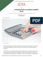 Divergências (Persistentes) Entre Os Regimes Contábil e Fiscal - JOTA Info