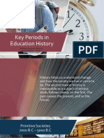 Key Periods in Education History