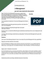 Open Text Document Management - Open Text Corporation