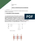 Trabajo 2 - Determinacion de La Constante Elastica