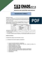 Padrao Resposta Engenharia Quimica 2014
