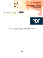 Anais Da II Mostra de Práticas Em Psicologia e Políticas Públicas Na Bahia
