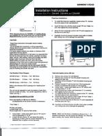 VDO Fuel Level Sender - Install. Instruct. (220.003, 220.004, 220.005)