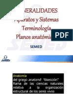 1.Generalidades Aparatos y Sistemas Terminologia y Planos Anatomicos
