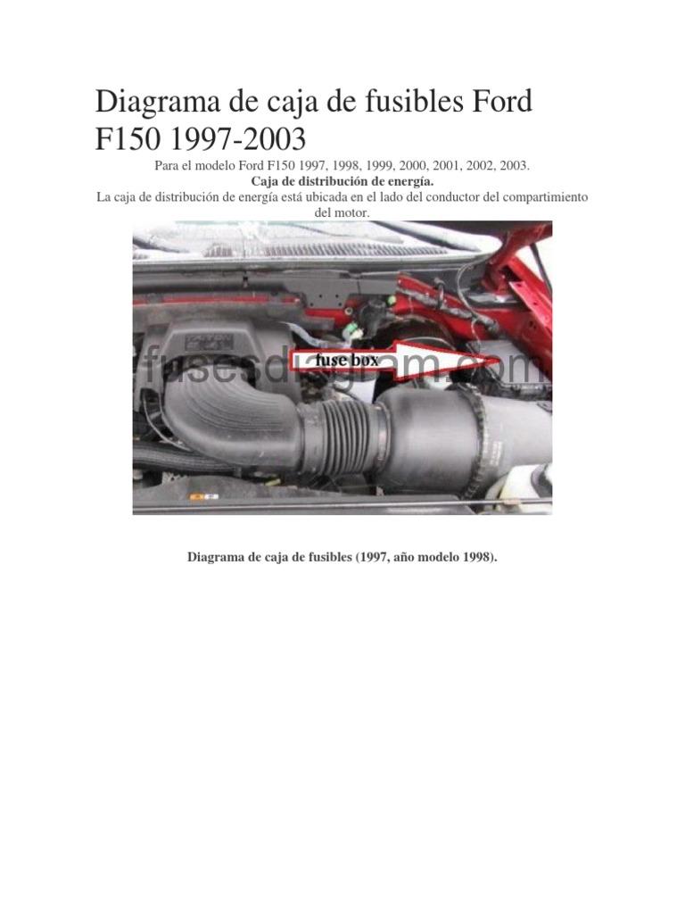 Diagrama De Caja De Fusibles Ford F150 1997 Formula Uno Rele