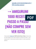 → Amigurumi RECEITAS Em Português [NÃO Compre Sem Antes VER Isto]