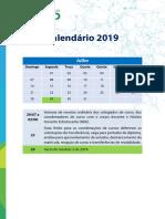 Calendário 2019.2