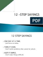 12 –Step Sayings