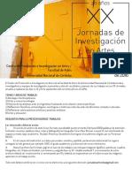 XXJornadas_de_Investigacion_en_Artes CORDOBA, 14, 15 Y 16 de SEPTIEMBRE