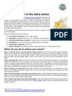 Dairy Sector Supply Chain Sheet