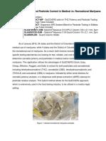 Potency and Pesticide Content in Medical vs. Recreational Marijuana 0 6101-02-01