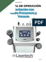 Instructivo Cavitación con Radio Frecuencia y Vacuum 2018