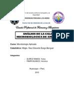 Análisis de La Calidad Microbiologica de Ambientes