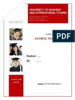 ID Name MKT 601 Final Assignment Sample 1