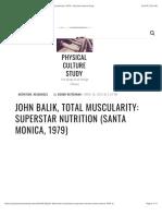 John Balik, Total Muscularity
