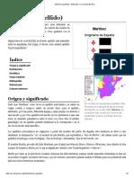 Martínez (Apellido) - Wikipedia, La Enciclopedia Libre