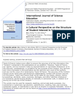 3. Ainley, Mary; Ainley, John - a Cultural Perspective on the Structure of Student Interest in Scie