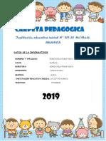 CARPETA PEDAGOGICA 2019