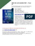 El Libro de Los QuizAs 8494516248