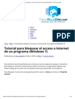 Tutorial Para Bloquear El Acceso a Internet de Un Programa (Windows 7) _ True Role Dreams