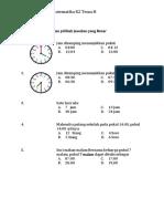Latihan PAT Kelas 2 Matematika Tema H