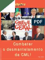 O Trabalhador da CML Nº 142 - Novembro/Dezembro 2010