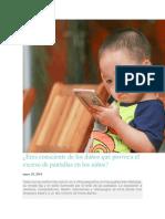 Niños y pantallas de celular