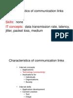 Link Characteristics