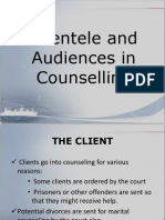 Clientele in Counselling