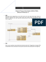 Conseptual Data Model & Physical Data Model (CDM & PDM)