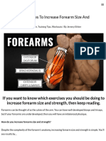 The 5 Best Exercises to Increase Forearm Size and Strength