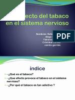Como afecta el uso de cigarro o tabaco al sistema nervioso