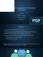 Guidelines for Management of Endometrial Carcinoma ppt