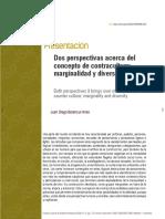 DOS PERSPECTIVAS ACERCA DEL CONCEPTO DE CONTRACULTURA
