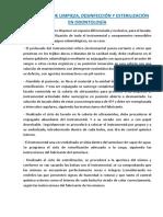 PROTOCOLO LIMPIEZA DESINFECCIÓN Y ESTERILIZACIÓN