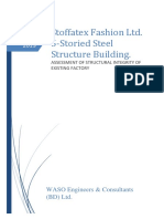 DESIGN REPORT (5-Storied Steel Structure Building)