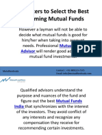 Parameters to Select the Best Performing Mutual Funds.pptx