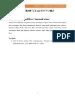 Fiber Optics and Networks