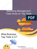 Presentation on Market Potential of Tag Taste