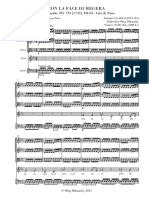 Vivaldi Semiramide RV 733 Con La Face Di Megera SPARTITO Dikansky
