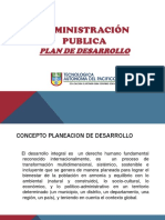 Administracion Publica- Planes de Desarrollo