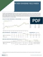 Msci Taiwan Imi High Dividend Yield Index Usd Gross