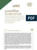 Europe Quarterly Divisional Seminar