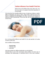 How Can Sleep Position Influence Your Health? Find Out.