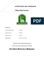 Over Speed Detection and Automated Reporting System