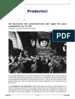 Prodavinci sobre el Totalitarismo