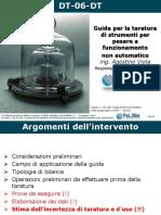 DT 06 DT - Guida Per La Taratura Di Strumenti Per Pesare a Funzionamento Non Automatico