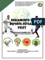 Bases de Deporte Fútsal y Voleybol Cachimbo General 2019