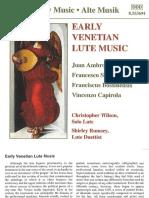 Christopher Wilson - Venetian Lute Music - Booklet